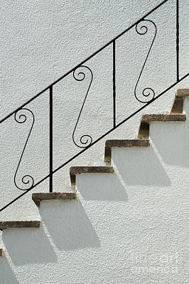 Photograph - Handrail And Steps 1 by Wendy Wilton