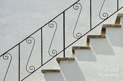 Photograph - Handrail And Steps 2 by Wendy Wilton