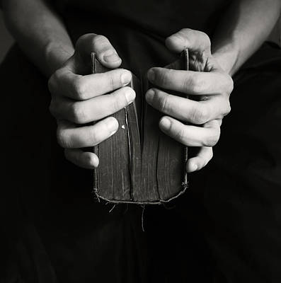 Hands And Book Art Print