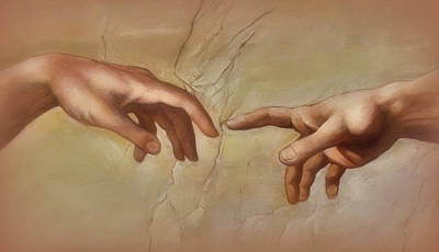 Religious Art Digital Art - Hands - From The Sistine Chapel by Lori Seaman