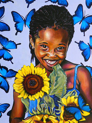 Wall Art - Painting - Hands Full Of Summer by Clayton Singleton