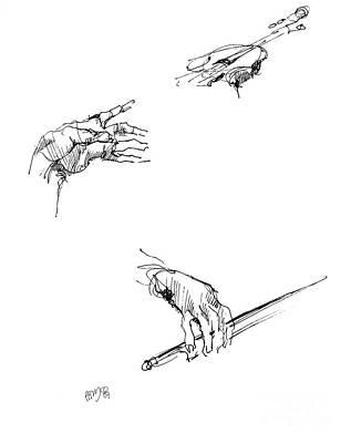 Hands Of A Violin Player Art Print