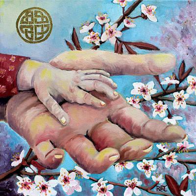 Hands Of Love Art Print by Renee Thompson