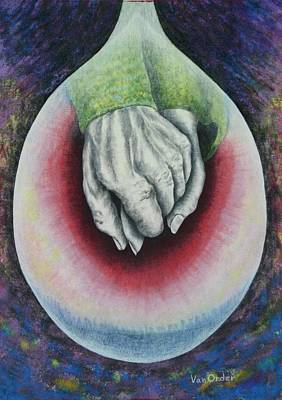 Charcoal Mixed Media - Hands Of Love by Richard Van Order