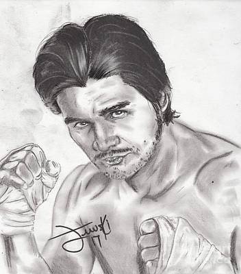 Roberto Drawing - Hands Of Stone by Michael Majewski