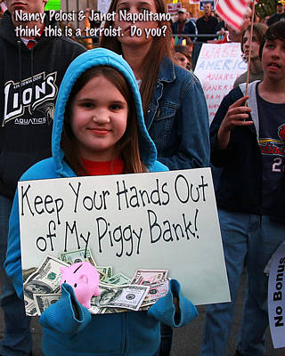 Photograph - Hands Off My Piggy Bank by David Coblitz