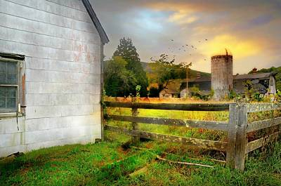 Barn And Silo Photograph - Hands On Harvest by Diana Angstadt