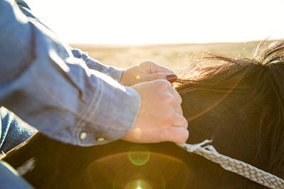 Youthful Photograph - Hands On The Reins by Todd Klassy
