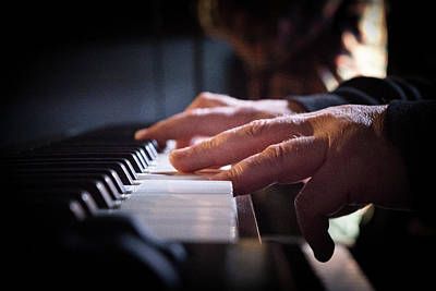 Photograph - Hands Playing Keyboard by Nadja Meyer
