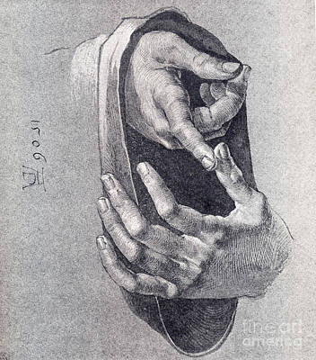 1506 Painting - Hands  Study by Pg Reproductions