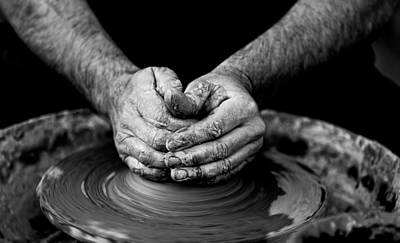 Hands That Shape Art Print by Quino Al