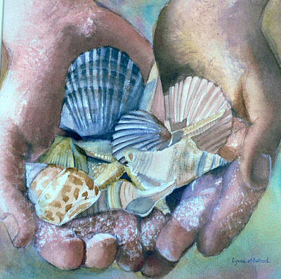 Painting - Hands With Shells by Lynne Atwood