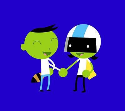 Digital Art - Handshake by Pbs Kids