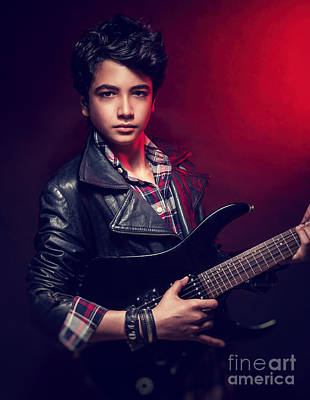 Photograph - Handsome Guy With Guitar by Anna Om