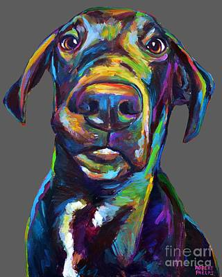 Painting - Handsome Hank The Great Dane by Robert Phelps