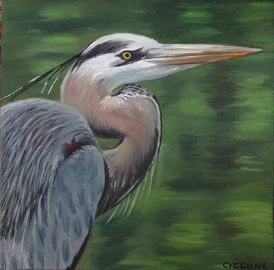 Painting - Handsome Heron by Jill Ciccone Pike