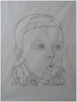Drawing - Handsome Lad by Joel Deutsch