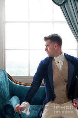 Photograph - Handsome Victorian Gentleman Sitting At The Window by Lee Avison