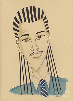 Handsome Young Man -- Stylized Portrait Of African-american Man Art Print