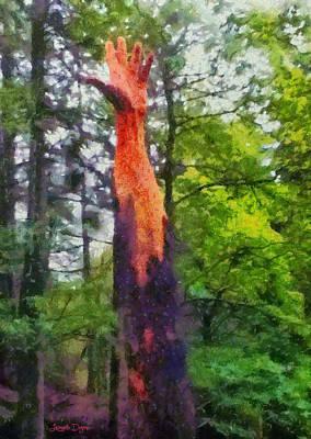 Maple Digital Art - Handtree - Da by Leonardo Digenio