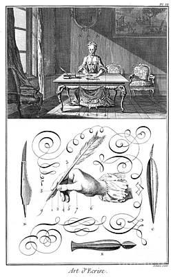 Handwriting, 18th Century Print by Granger