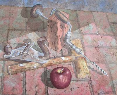Painting - Handyman's Snack by Tony Caviston