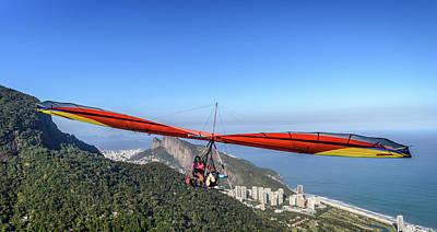 Photograph - Hang Gliding In Rio De Janeiro, Brazil by Alexandre Rotenberg
