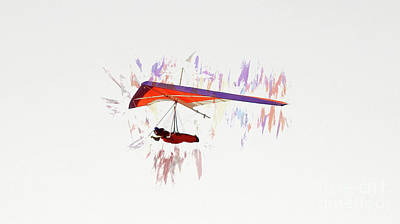 Photograph - Hang Gliding Nbr 7 by Scott Cameron