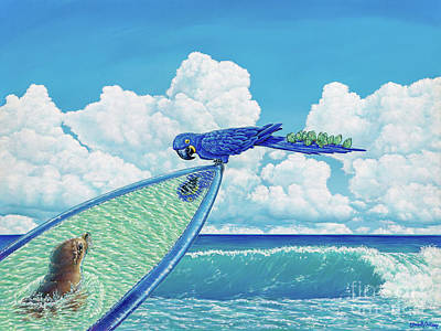 Painting - Hang Ten by Elisabeth Sullivan