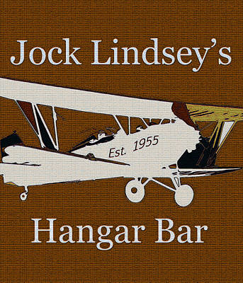 Painting - Hangar Bar Art Sign Vintage by David Lee Thompson