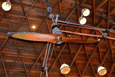 Photograph - Hangar Bar Cieling Fan by David Lee Thompson