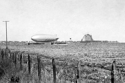 Photograph - Hangar One At Moffett Field, California Circa 1931 by California Views Archives Mr Pat Hathaway Archives