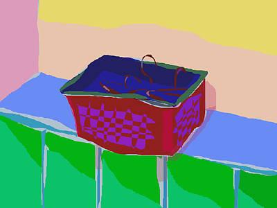 Hanger Digital Art - Hangers In A Basket by Masaaki Kimura