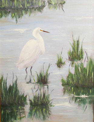 Marsh Painting - Hangin' At Bolsa Chica by Liberty Dickinson