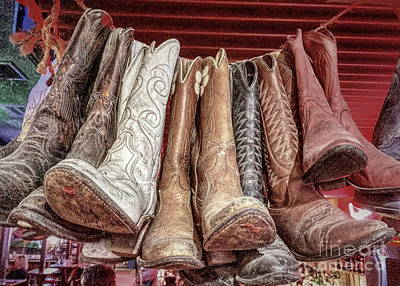 Photograph - Hangin' Boots by Jenny Revitz Soper