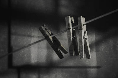 Clothesline Photograph - Hangin On by Scott Norris