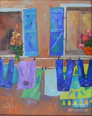 Laundry Painting - Hangin' Out In Italy by Lynn Rattray