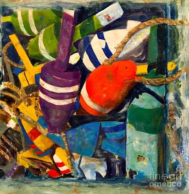 Painting - Hangin With The Buoys by Beth Saffer