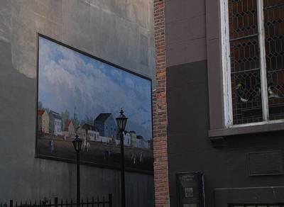 Hanging Art In N Y C  Art Print by Rob Hans