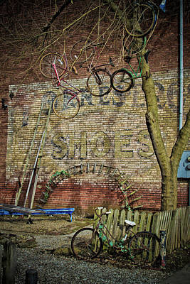 Photograph - Hanging Bikes by Daniel Houghton