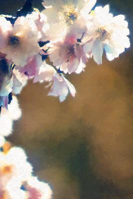 Digital Art - Hanging Blossoms - Study2 by Patrick Turner