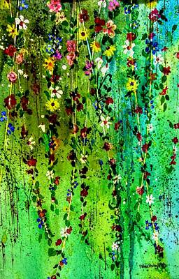 Painting - Hanging Bouquet Three by Esther Woods