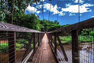 Photograph - Hanging Bridge Hanapepe Kauai by Blake Webster