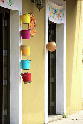 Photograph - Hanging Buckets In Panama City by John Rizzuto
