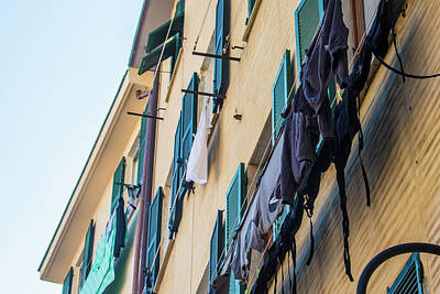 Photograph - Hanging Clothes In Cinque Terre  by John McGraw