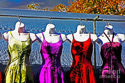 Photograph - Hanging Dresses by David Frederick