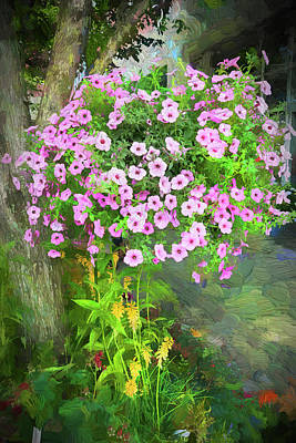 Photograph - Hanging Flower Basket 6186. by Carlos Diaz