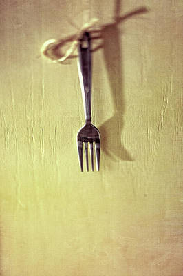Photograph - Hanging Fork On Jute Twine by YoPedro