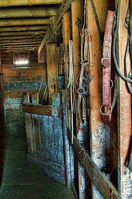 Photograph - Hanging In The Barn by Alana Thrower
