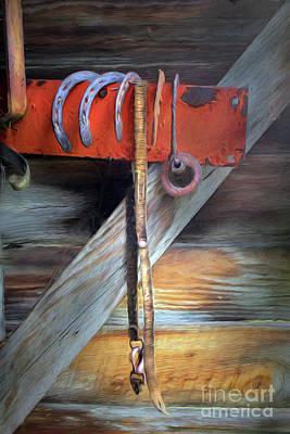 Hanging In The Barn Art Print